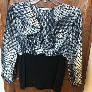 Ruffle Blouse with fitted Waist